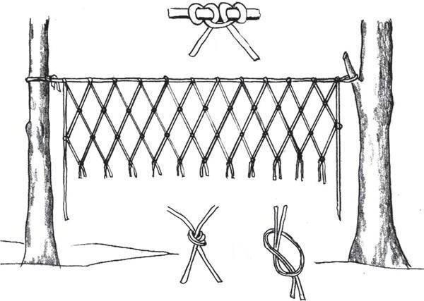 Как вязать рыболовную сеть схема