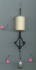 Оснастка для ловли толстолобика на технопланктон