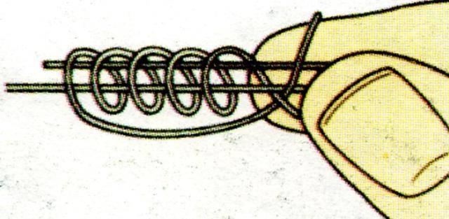 Скользящий узел для поплавка