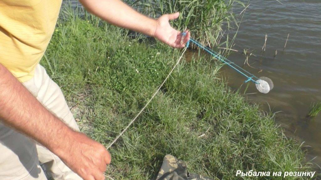 Ловля рыбы сеткой с берега