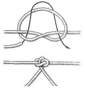 схема вязки поводкового узла