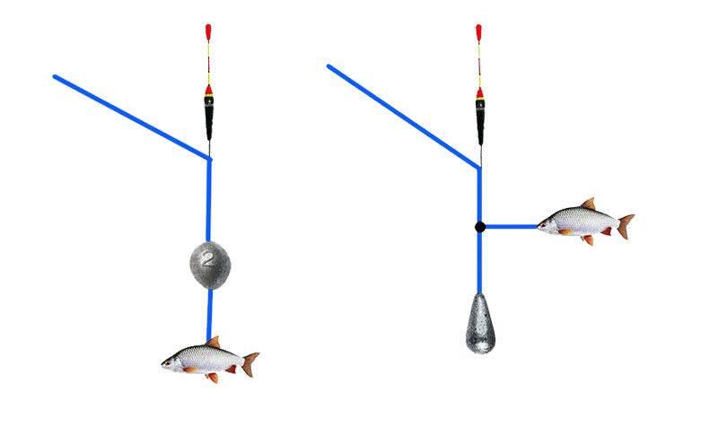 Оснастка для ловли щуки поплавочной удочкой на живца