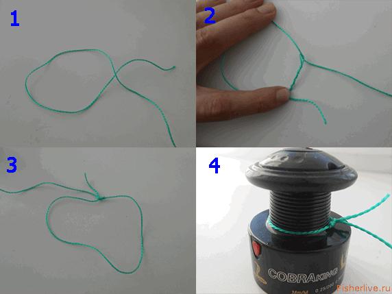 Как привязать леску к шпуле безынерционной катушки