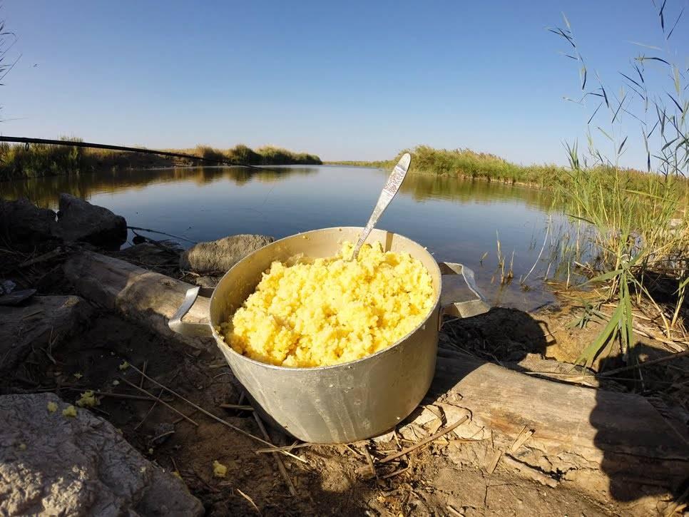 Как варить кашу пшенную для рыбалки