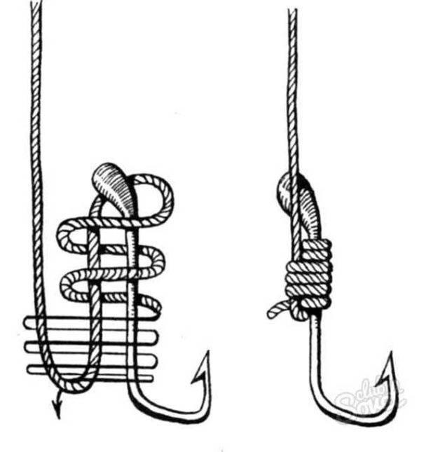 Способ вязания рыболовных крючков