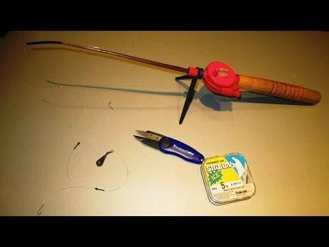 Оснащение зимних удочек для ловли плотвы