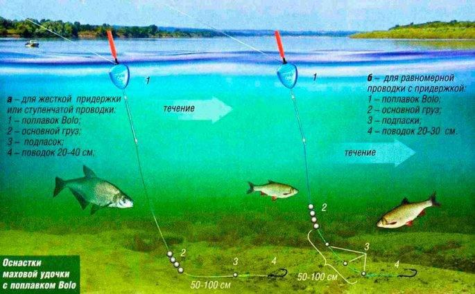 Плоские поплавки для ловли на течении