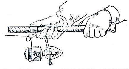Заброс приманки спиннингом с безынерционной катушкой, фото 1