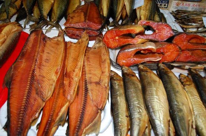 Разная копчёная рыба