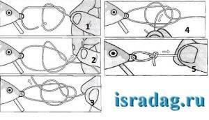 Способы завязывания рыболовных крючков